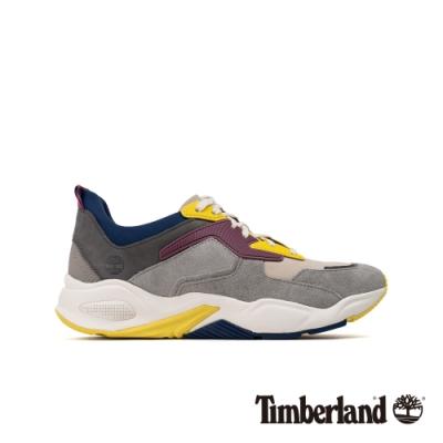 Timberland 女款淺駝色磨砂革撞色皮革厚底運動鞋|A2525