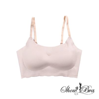 Show Bra日本同步SGS認證百搭無痕無鋼圈細肩帶內衣(膚)