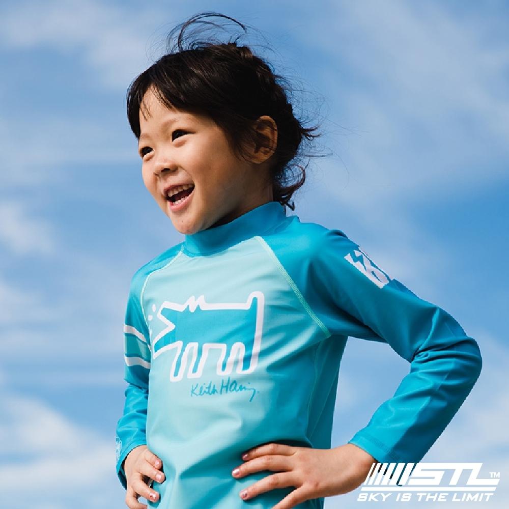 STL kids rash 兒童 韓國 海灘/海邊 機能運動戶外 防磨 水母衣 童凱斯哈林藍