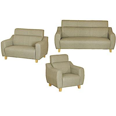 綠活居 艾凱蒂時尚灰貓抓皮革沙發椅組合(1+2+3人座)