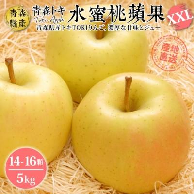 【天天果園】日本青森TOKI水蜜桃蘋果特大顆5kg(約14-16入)