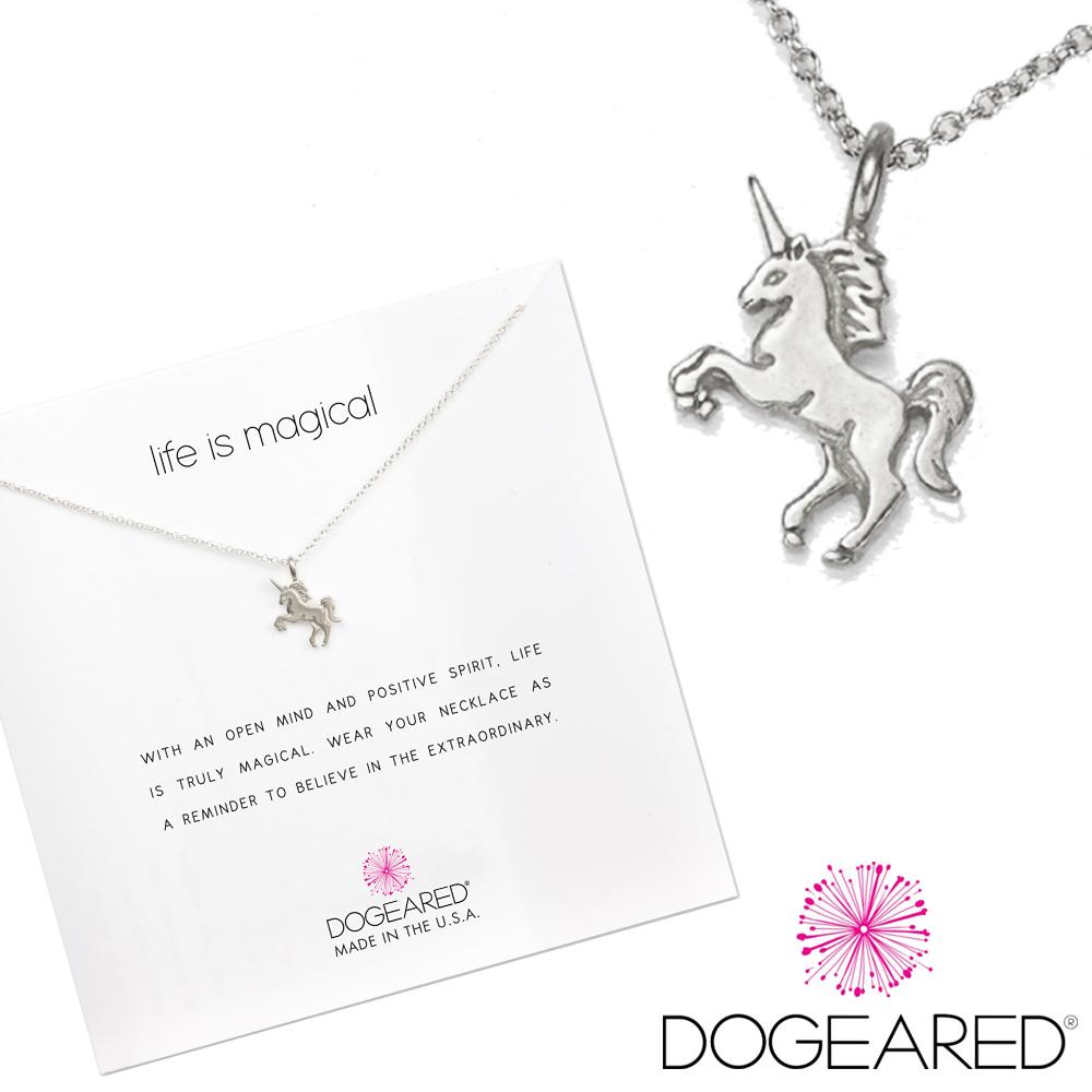 Dogeared 許願項鍊 銀色獨角獸Life s magical unicorn附原廠盒