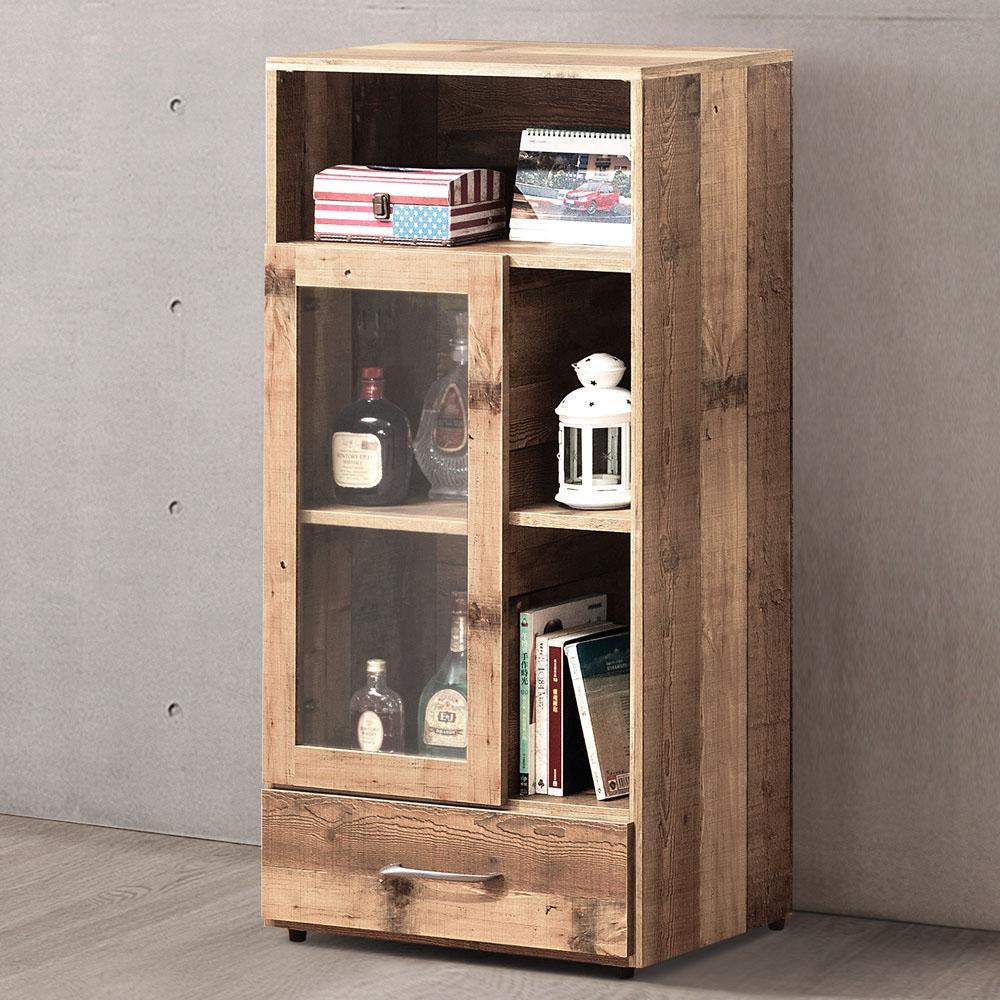 Homelike 雷諾復古風單門置物櫃-60x40x121cm-免組裝