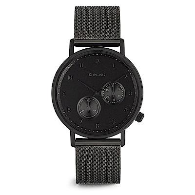 KOMONO  Crafted Walther Mesh 腕錶-性格黑/40mm