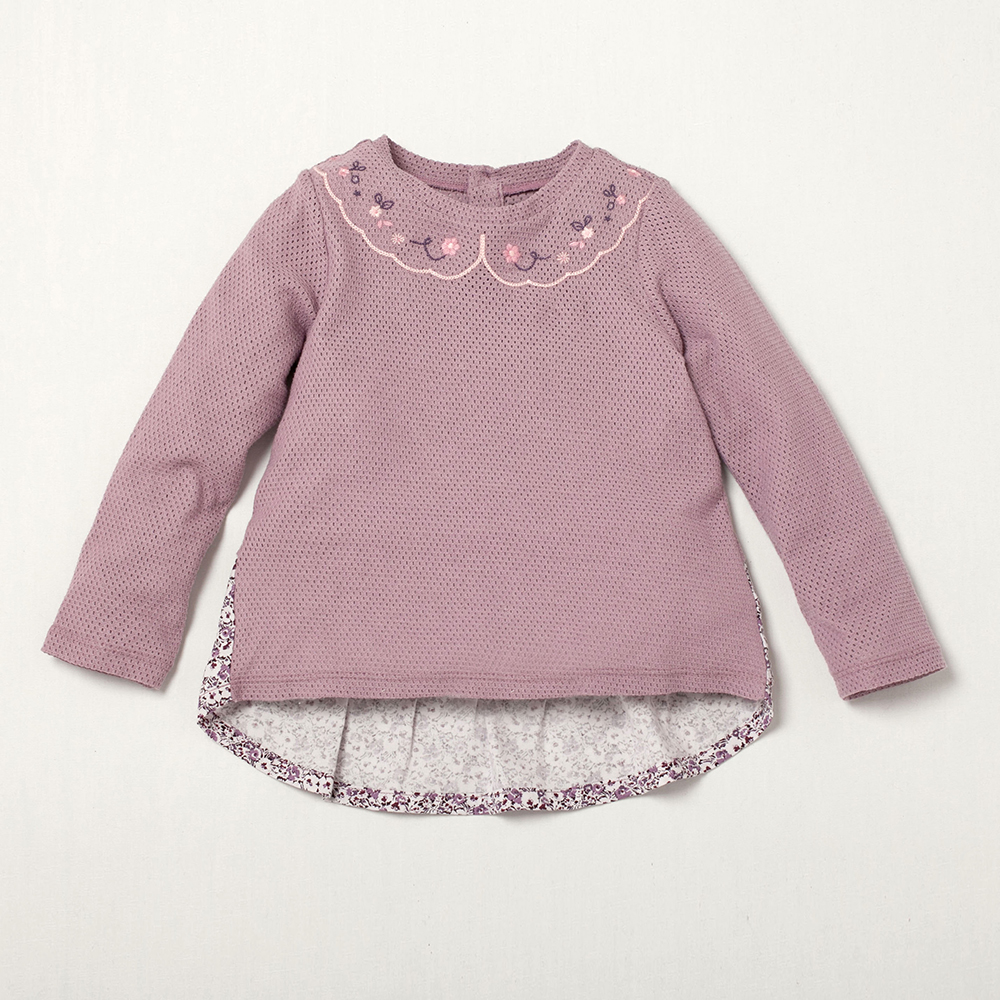 PIPPY 花精靈碎花長袖上衣 紫