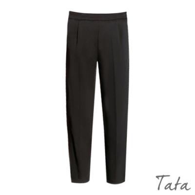 微抓摺直筒西裝褲 TATA-(S~L)