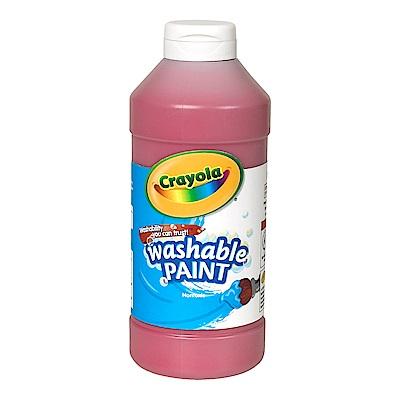 美國Crayola 繪兒樂 可水洗兒童顏料16OZ紅色(3Y+)