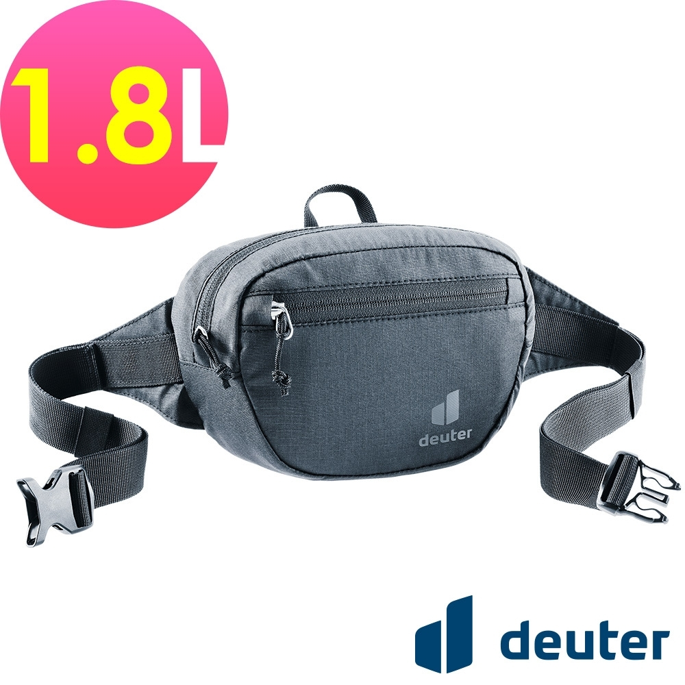 【deuter 德國】Organizer Belt 1.8L休閒輕量腰包3900421黑/胸包/側背包/路跑/慢跑