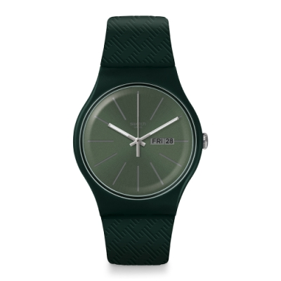 Swatch  I love your folk系列手錶 KHAKITEX 卡其軍綠