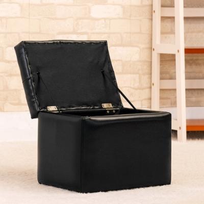 JP Kagu 日式經典皮沙發椅收納椅-小(二色)