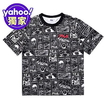 FILA KIDS 童吸濕排汗上衣-黑色 1TEV-4508-BK