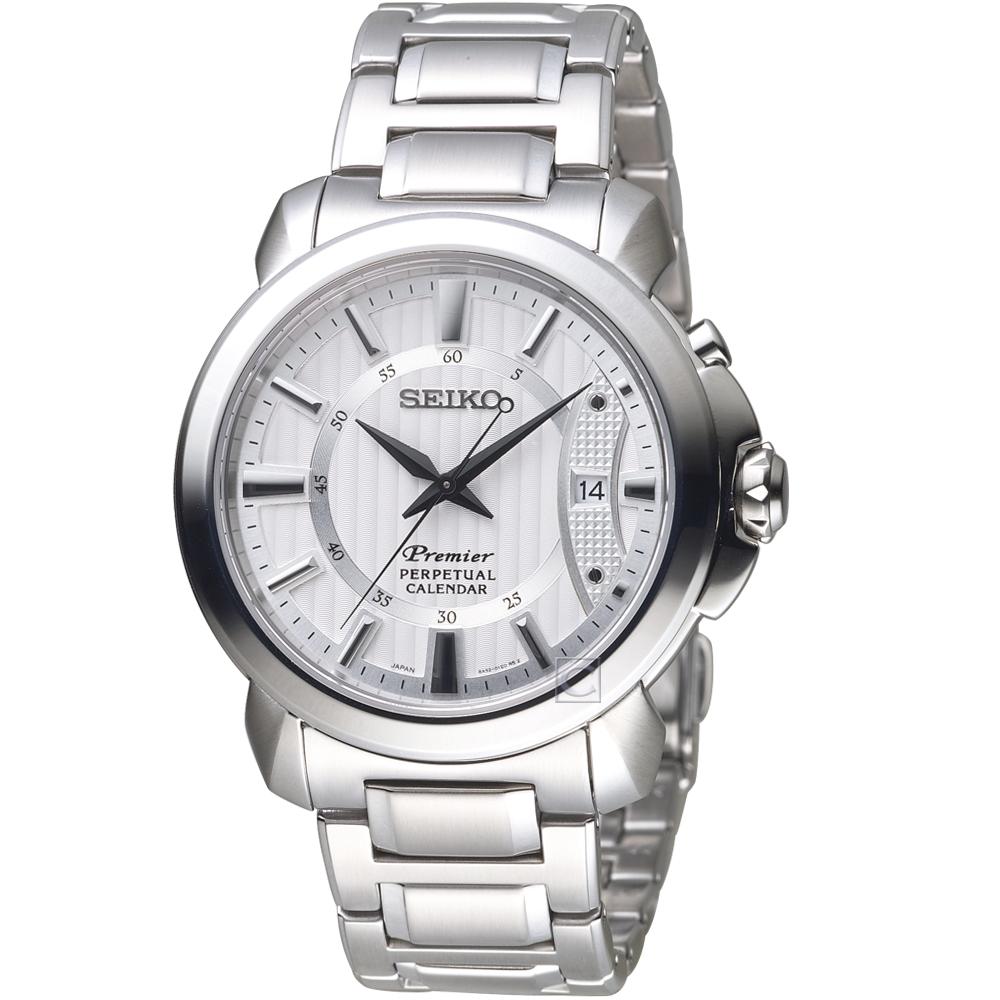 SEIKO Premier 經典萬年曆紳士錶(SNQ155J1)41.5mm