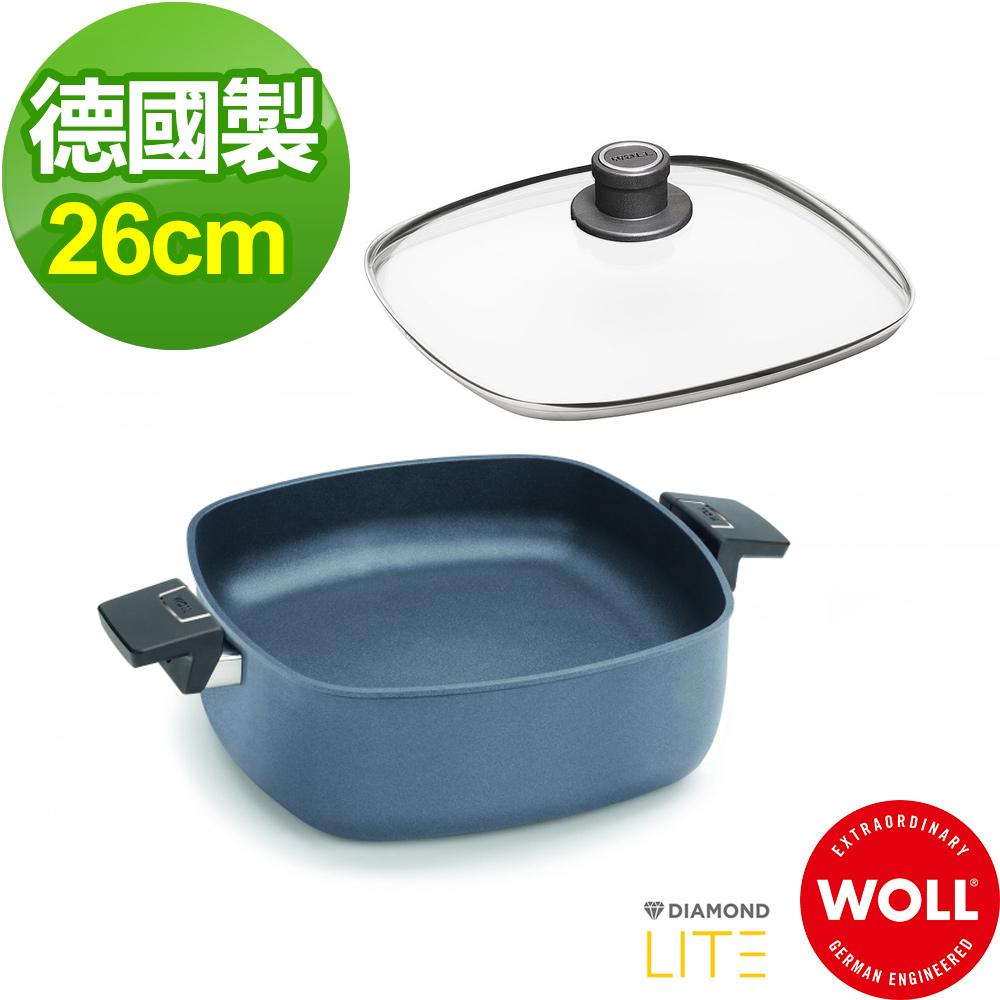 德國WOLL 新鑽石系列26cm方型湯鍋(含蓋)