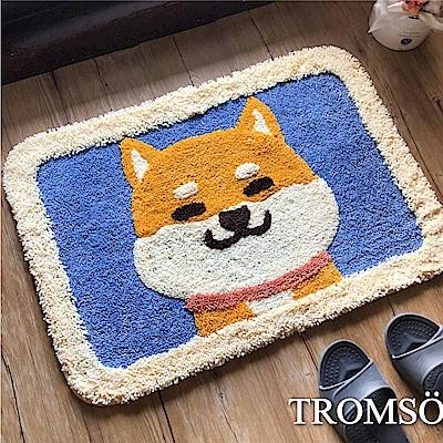 TROMSO 頂級凱薩雪毛尼吸水地墊-俏皮小柴犬