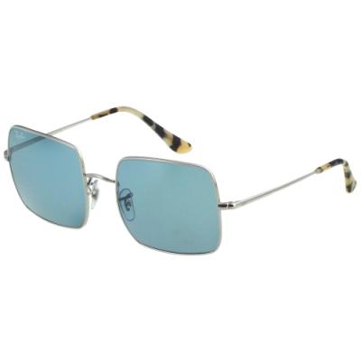 RAY BAN 方框 太陽眼鏡(銀色)