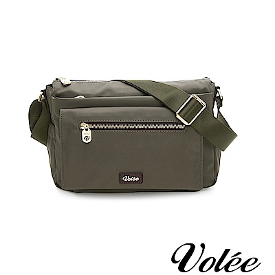 Volee好旅行系列多層拉鍊肩背包-愛爾蘭綠