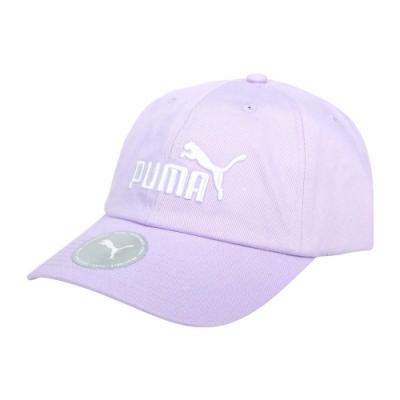 PUMA 基本系列棒球帽-純棉 帽子 防曬 遮陽 鴨舌帽 02241637 紫白