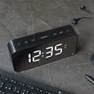 【KINYO】多功能時尚鏡面電子鐘 (TD-393)
