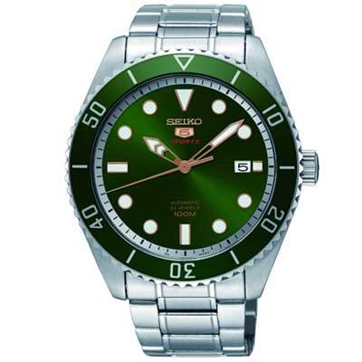 SEIKO精工 5號綠鬼復刻盾牌機械錶(SRPB93K1)-44mm