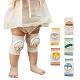 JoyNa【3組入】寶寶嬰兒春夏鏤空網眼爬行護膝學步防摔護肘襪套2入 product thumbnail 1