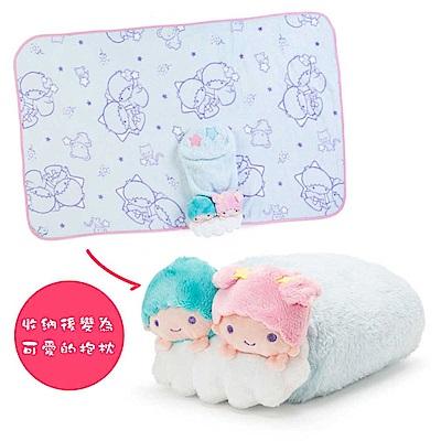 Sanrio 雙星仙子可愛趴趴造型多用途靠墊毛毯(星)