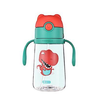 韓國BEDDY BEAR Tritan可背式兒童水壺380ML(恐龍)