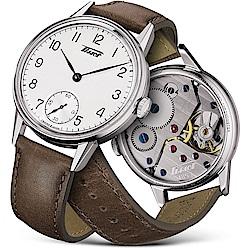 TISSOT天梭 Heritage 傳承1943年復刻經典小秒針機械錶-42mm
