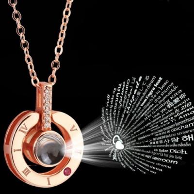 Hera 赫拉 雙戴法記憶之愛投射我愛你鎖骨練/項鍊-2色