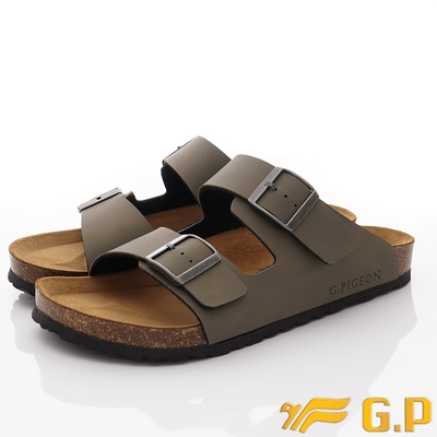 GP時尚涼拖 雙帶勃肯涼鞋款-MTH91-60綠(男段)