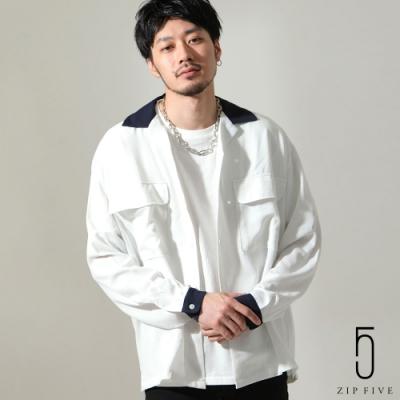 ZIP日本男裝 寬版開領牧師襯衫(3色)