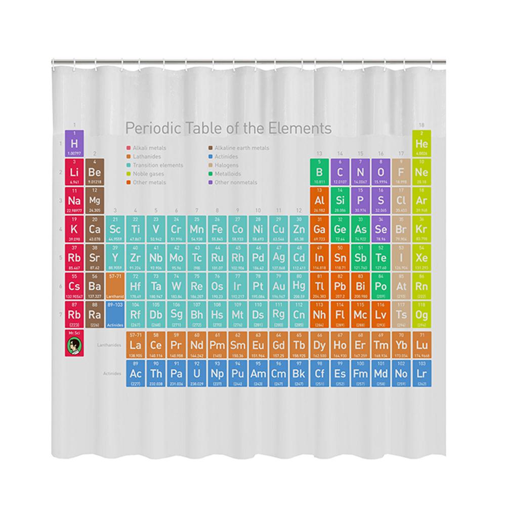 賽先生科學 科學浴簾-優雅化學元素表