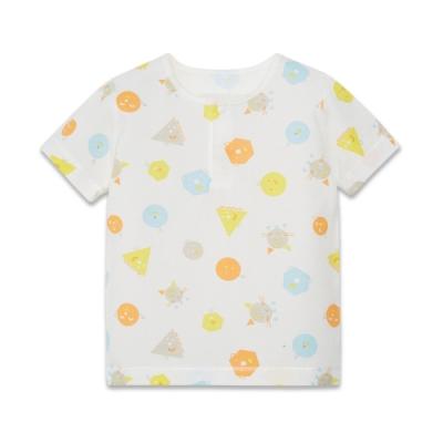 【麗嬰房】Cloudy雲柔系列 童趣純棉兩粒扣短袖上衣兩件裝 (76cm~130cm)