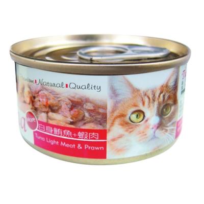 Seeds 聖萊西-Tuna愛貓天然食-白身鮪魚+蝦肉(70gX24罐)