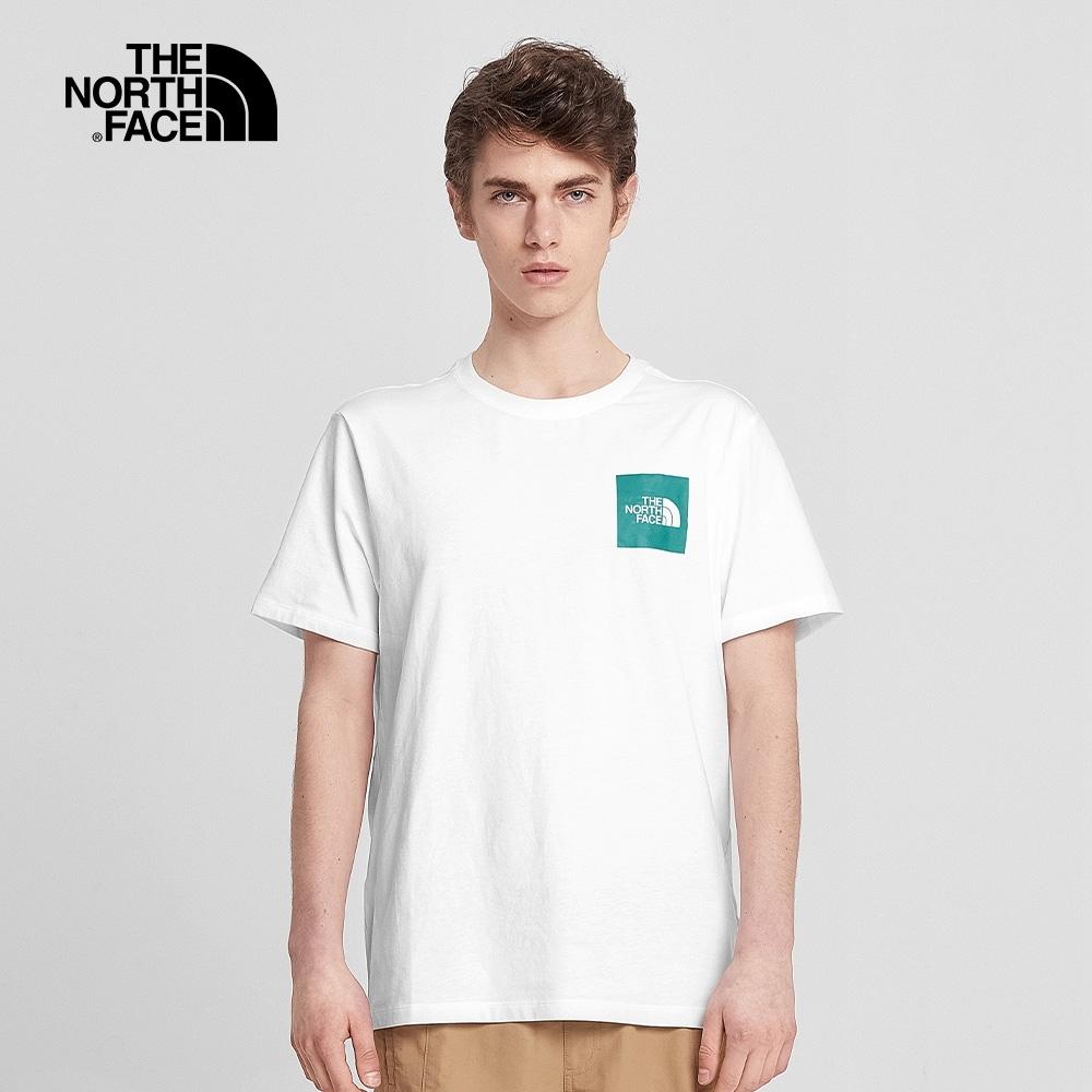The North Face北面男款白色吸溼排汗圓領短袖T恤|499KK2K