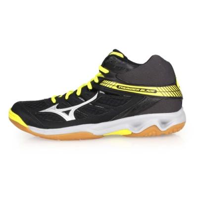 MIZUNO 男女 排球鞋 THUNDER BLADE MID 黑芥末黃