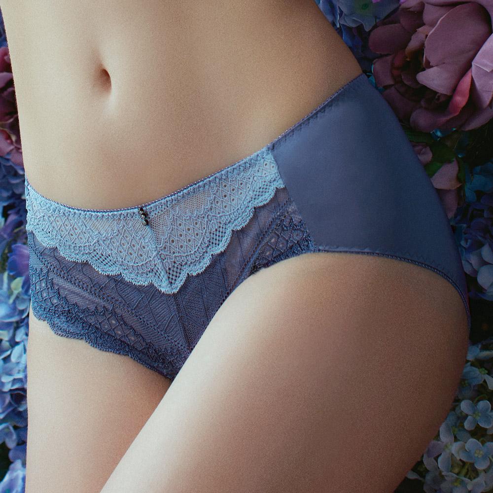 推EASY SHOP-香榭花都璀璨 中低腰平口褲(萬壽菊)