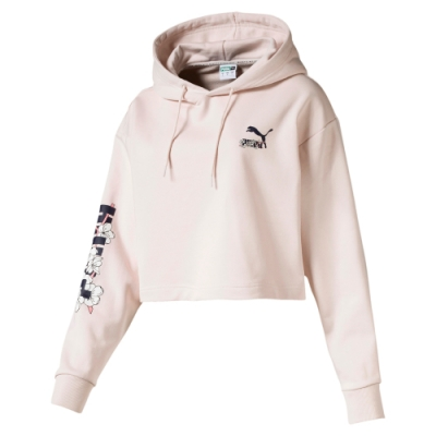 PUMA-女性流行系列Sakura長厚連帽T恤-輕柔粉-歐規