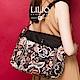 織帶手提側背包-法國玫瑰復刻印花-經典黑 LiliO product thumbnail 1