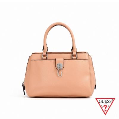 GUESS-女包-簡約字母G手提包-米棕 原價3490