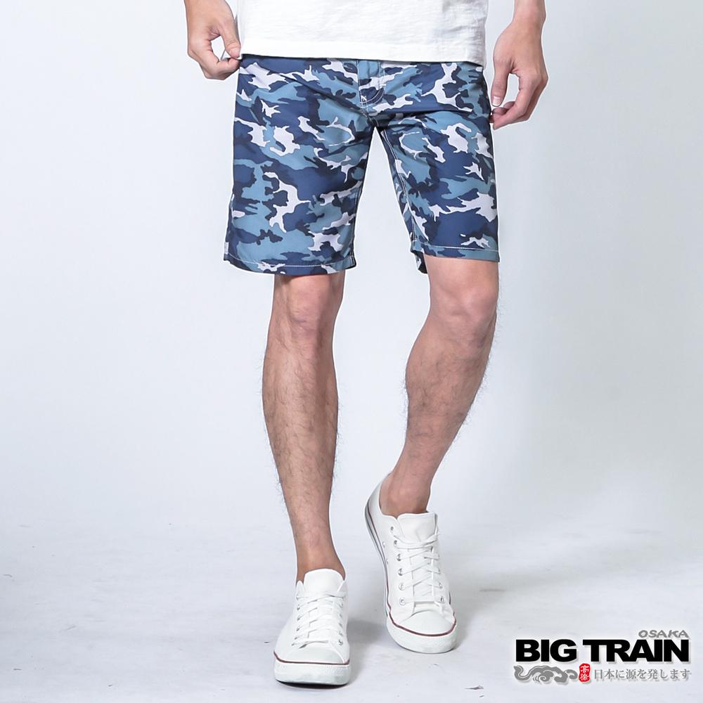 BIG TRAIN 全地域街頭短褲-男-藍迷彩