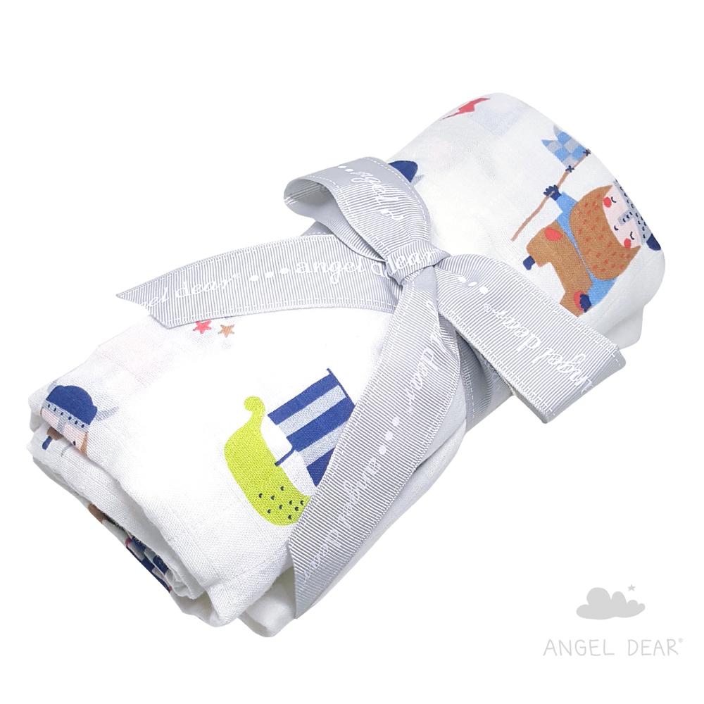 美國 Angel Dear 竹纖維嬰幼兒包巾禮盒 (維京英雄)