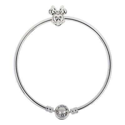 Pandora 潘朵拉 迪士尼米妮925純銀硬環手鍊手環 限定款