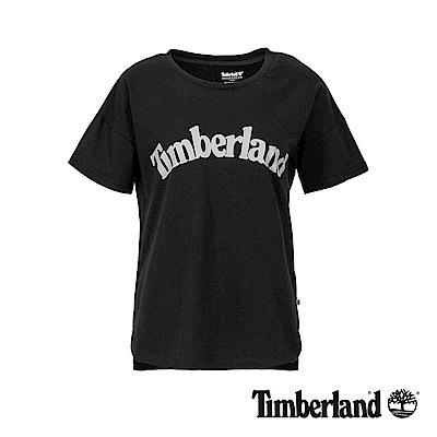 Timberland 女款黑色品牌LOGO素面休閒短袖T恤|B3513