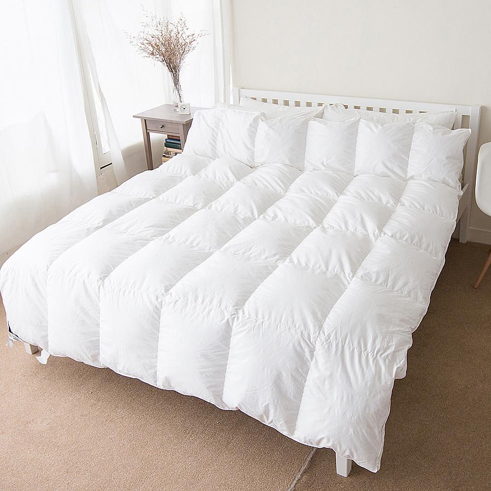 凱蕾絲帝-貴族級(90%純絨)立體車純棉羽絨被-雙人(6x7尺)充羽絨毛量1.2kg