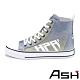 ASH-GLOVER時尚格利特炫彩亮片繫帶高筒增高帆布鞋-漸變藍 product thumbnail 1