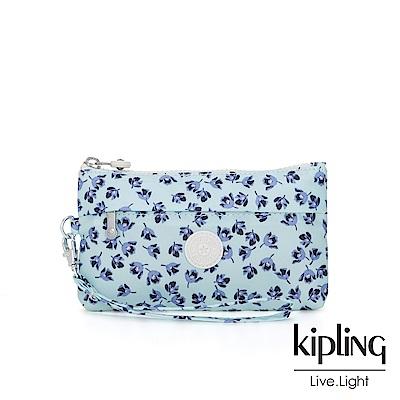 Kipling 典雅淡藍小花手拿配件包-NIYLAH