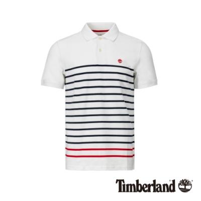 Timberland 男款線條短袖POLO衫|A1ZJR