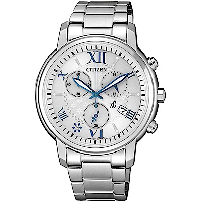 CITIZEN 星辰XC 專屬星盤藍色銀河時尚腕錶 (FB1430-69A)