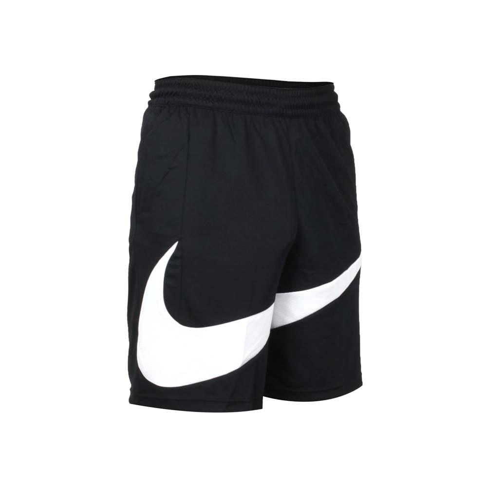 NIKE 男籃球短褲-運動 五分褲 DRI-FIT 慢跑 路跑 針織 BV9386-011 黑白