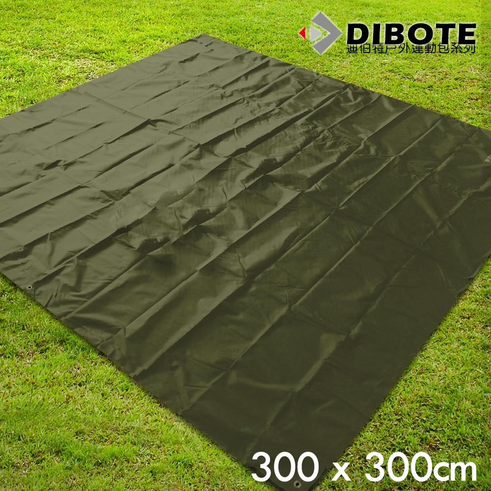 迪伯特DIBOTE 銀膠防水地墊/野餐墊/防水地布/帳篷底布 (300x300) -綠
